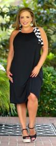 Fashion Line Up Dress - Black