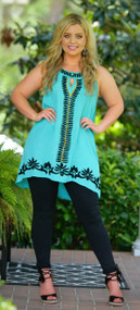 All Eyes On You Tunic - Teal