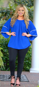 Girls Night Out Top - Cobalt Blue
