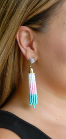 Along The Shore Earring - Mint & Pink