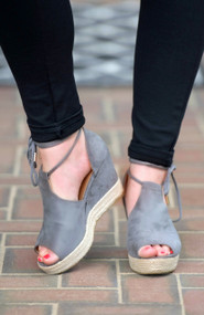 Palm Beach Perfect Wedge - Grey***FINAL SALE***