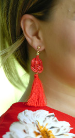 Tie The Knot Earring - Red