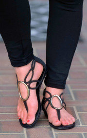 Here Comes The Sun Sandal - Black