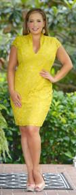Shine Bright Lace Dress - Tea Leaf