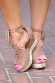 Palm Beach Perfect Wedge - Taupe