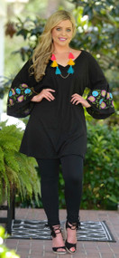 Along The Shoreline Tunic - Black***FINAL SALE***