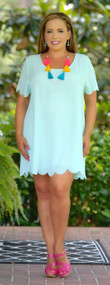 Curves Ahead Tunic / Dress - Mint***FINAL SALE***