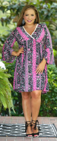 Let It Rain Dress - Black & Pink***FINAL SALE***