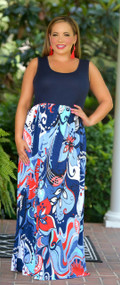 Summer Sunset Maxi - Navy***FINAL SALE***