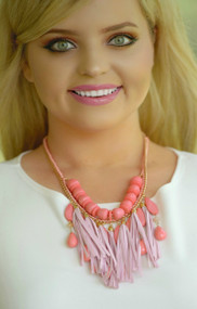 Tessa Necklace - Coral Mix