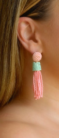The Joleen Earring - Peach & Mint