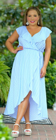 Island Time Dress - Blue & White***FINAL SALE***