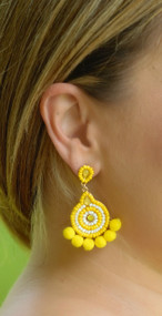 Drops Of Sunshine Earring - Yellow
