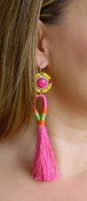 Divine Intervention Earring - Pink***FINAL SALE***