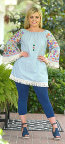 Limitless Dreams Dress / Tunic - Green & Cream***FINAL SALE***