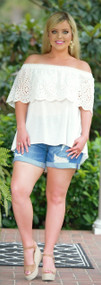 Serenity Found Eyelet Top - White***FINAL SALE***