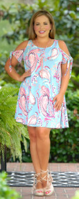 Long Walk To The Lagoon Dress - Blue