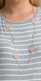 In The Swing Of Things Necklace - Pink