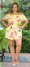 English Rose Romper - Yellow***FINAL SALE***