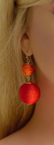 The Lana Earring - Orange & Red