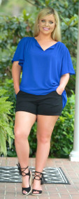 Colors Of The Wind Top - Royal Blue ***FINAL SALE***