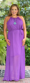 Reign The Day Maxi Dress - Purple