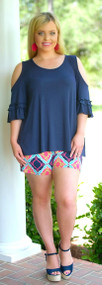 Brains & Bronze Short - Navy/Pink***FINAL SALE***