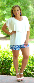 Brains And Bronze Short - Navy/Jade***FINAL SALE***