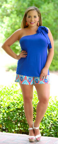 Knot Your Average Vacay Top - Royal Blue