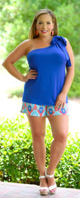 Brains & Bronze Short - Royal / Fuchsia***FINAL SALE***