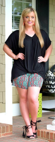 Brains & Bronze Short - Black/Coral