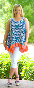Daytona Delight Tunic - Navy/Jade***FINAL SALE***