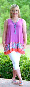 A Room With A View Tunic - Magenta