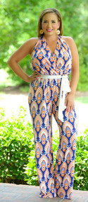 San Fran With A Tan Jumpsuit - Royal Blue***FINAL SALE***