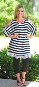 Love Line Tunic - Black & White
