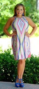 Point Me To The Beach Dress - Multi
