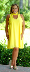 Let Your Light Shine Dress - Yellow