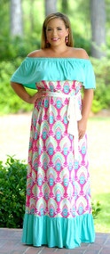 Margarita Time Maxi - Fuchsia / Mint***FINAL SALE***