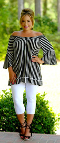 A Classic Choice Top - Black & White