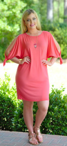 Not So Plain Jane Dress - Coral