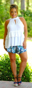 Tropical Treasure Short - Navy