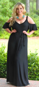 Make My Heart Flutter Maxi - Black