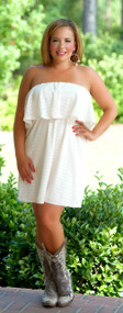 Montana Skies Lace Dress - Cream