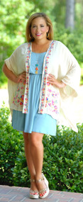 Fluttering Heart Cardigan - Natural