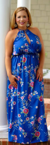 Call Me Charming Maxi - Royal Blue