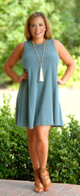 Casual Cool Dress/Tunic -Teal