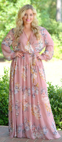 Drama Queen Maxi Dress - Blush