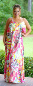 Urban Jungle Maxi Dress - Multi