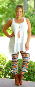 Too Tempting Legging - Orange Multi