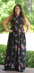 Reigning Rose Maxi - Black